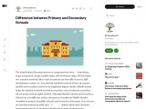 Difference between Primary and Secondary Schools