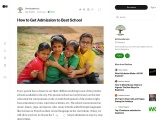 How to Get Admission to Best School