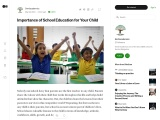 Importance of School Education for Your Child