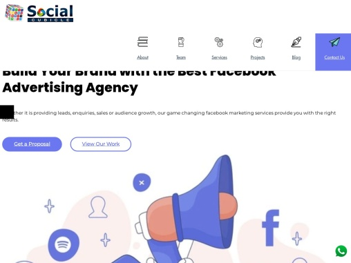 Top Facebook Marketing Company in India   Social Cubicle