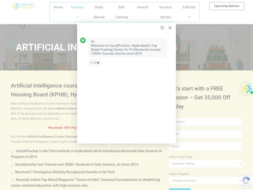Artificial intelligence course with certification in Hyderabad