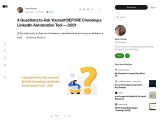 4 Questions to Ask Yourself BEFORE Choosing a LinkedIn Automation Tool — 2021
