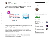 What is LinkedIn Sales Navigator? How Can We Use It for Lead Generation In 2021?