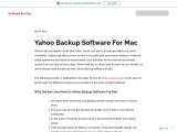 Yahoo Backup Software For Mac Step by Step Guide