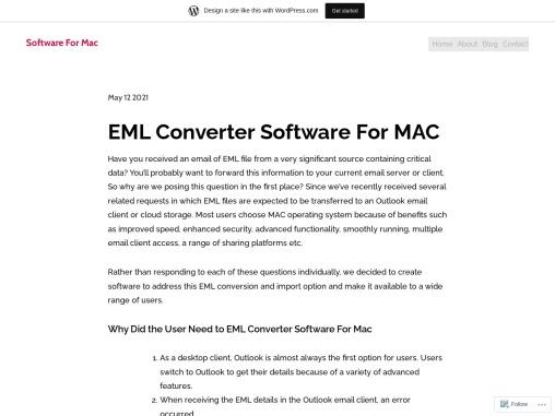 EML Converter Software For MAC