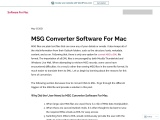 MSG Converter Software For Mac