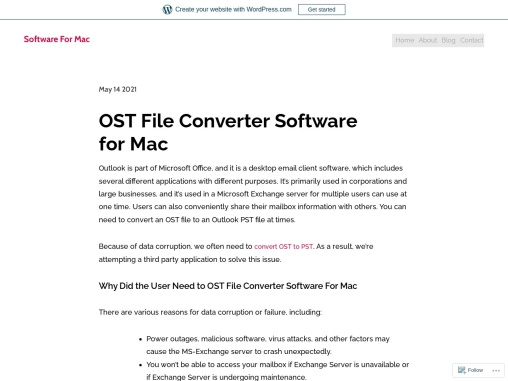 OST File Converter Software for Mac