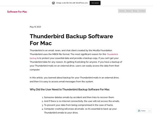 Thunderbird Backup Software For Mac