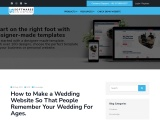 How to Make a Wedding Website So That People Remember Your Wedding For Ages.