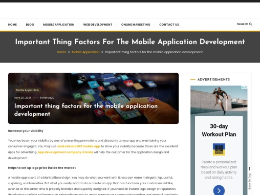 Important Thing Factors For The Mobile Application Development