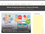 Website designing implication in business branding