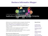 Implication of Website Services for the Designing