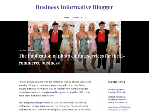 The implication of photo editing services for the E-commerce business