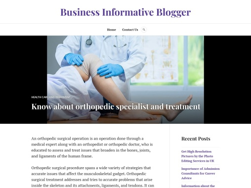 Know about orthopedic specialist and treatment
