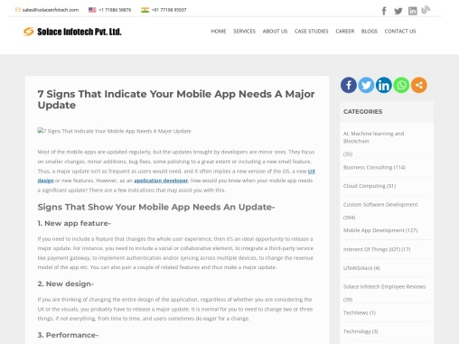7 Signs That Indicate Your Mobile App Needs A Major Update