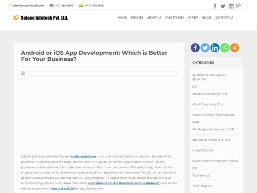 Android or iOS App Development: Which is Better For Your Business?