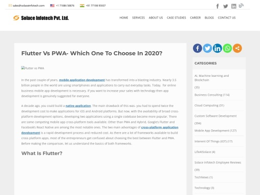 Flutter Vs PWA- Which One To Choose In 2020?