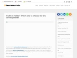 Flutter vs swift: Which one to choose for iOS development?