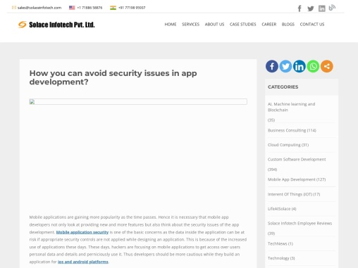 How you can avoid security issues in app development?