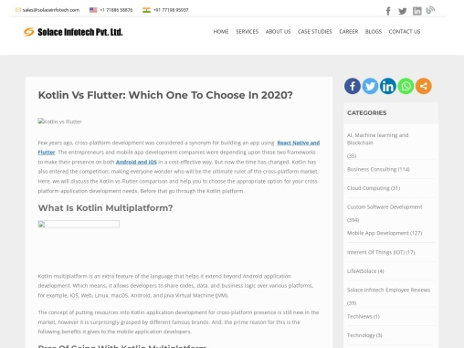 Kotlin vs Flutter: Which one to choose in 2020?