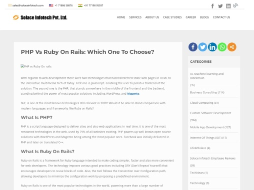 PHP vs Ruby On Rails: Which one to choose?