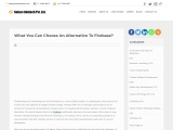 What You Can Choose An Alternative To Firebase?