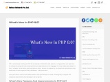 What's New Features In PHP 8.0?