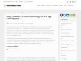Why Flutter is golden technology for ios app development?