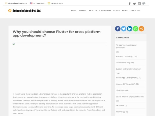 Why choose Flutter for cross platform app development?