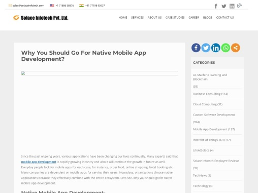 Why You Should Go For Native Mobile App Development?