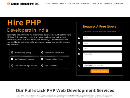 PHP Development company in india | Best PHP developers for your project at low cost