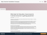 Why Solar for Education, Government & Commercial sector is gaining popularity?