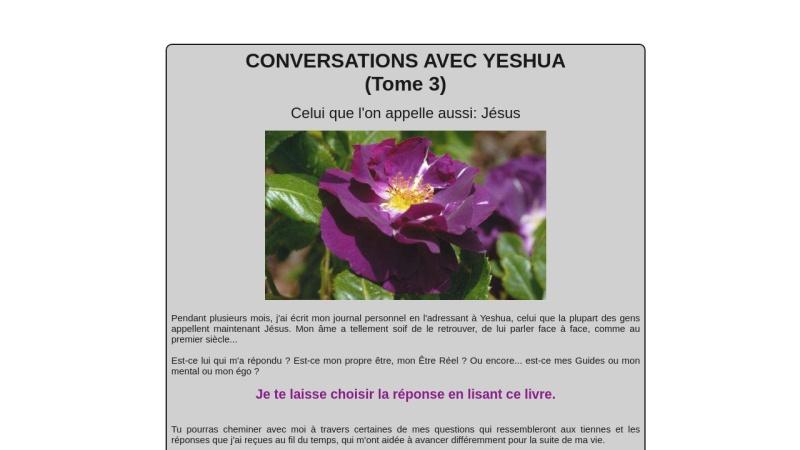 conversations avec yeshua (tome 3)