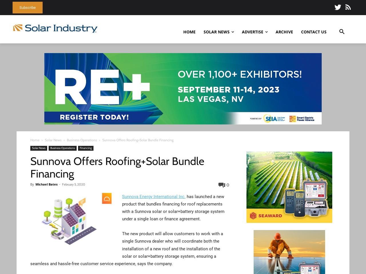 Sunnova Offers Roofing+Solar Bundle Financing