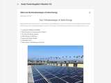 What are the disadvantages of solar energy?