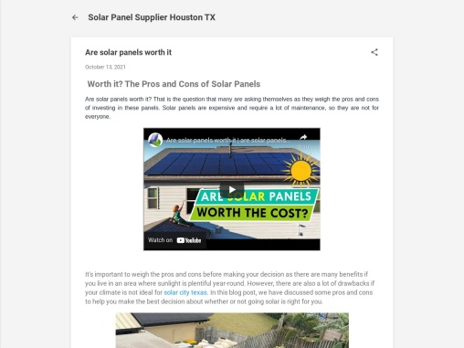Are Solar Panels Worth It in 2021