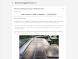 How Many Solar Panels Are Needed to Power My Home?