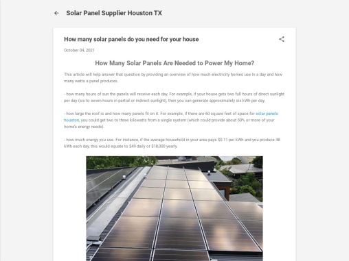 How many solar panels do you need for your house?