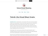 Teknik Jitu Email Blast Gratis