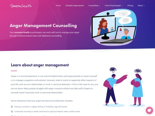 Anger Management Counselling – Someone Health