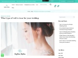 Different Types of Wedding Veils For the Wedding Day