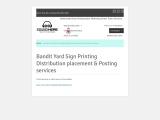 Yard sign distribution
