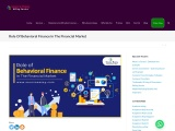 Role Of Behavioral Finance In The Financial Market
