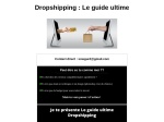 DROPSHIPPING  COMMENT SE LANCER
