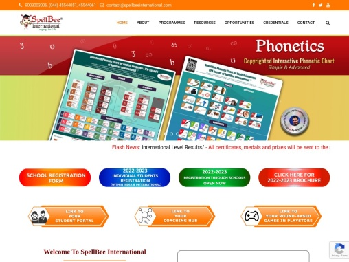 We are SpellBee International,English language mastery through a unique learning model