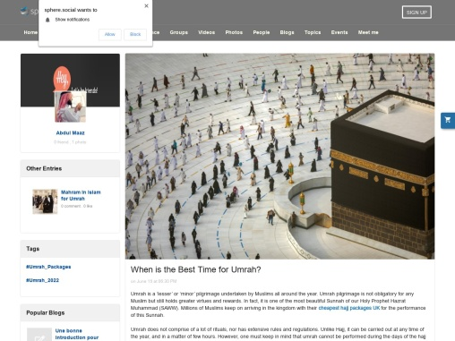 When is the Best Time for Umrah?