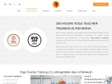 200 Hours Yoga Teacher Training in Rishikesh 2021