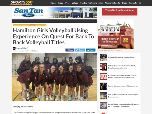 Hamilton Girls Volleyball Using Experience On Quest – Sports360az