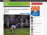 Story by Dominic Stearn – Prep – Max Martin Shines In Camelback Debut