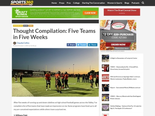 Thought Compilation: Five Teams in Five Weeks – Sports